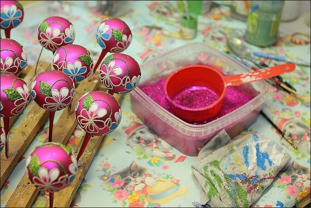 Christmas baubles production