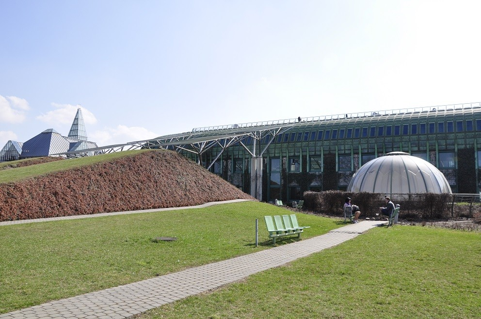 The garden of the University of Warsaw Library