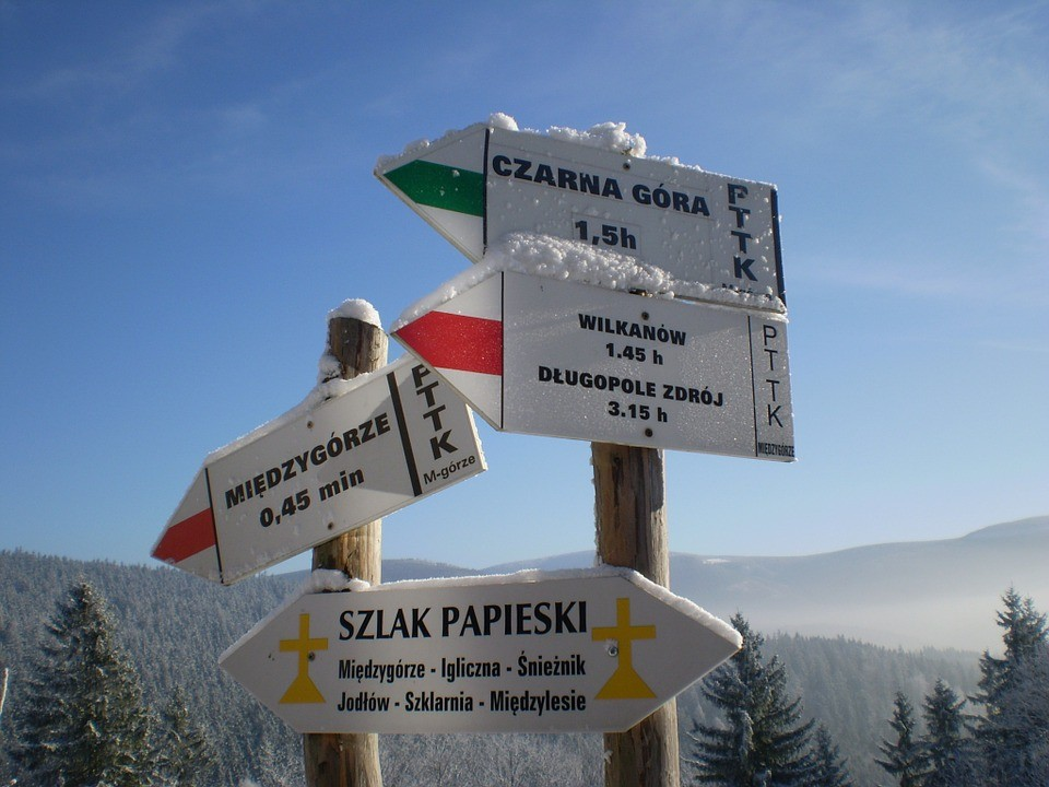 Tourist hiking trails in Poland and their signs