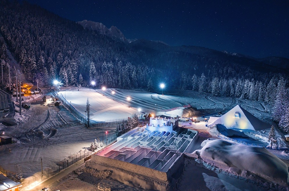 The world's largest Snow Maze, Zakopane
