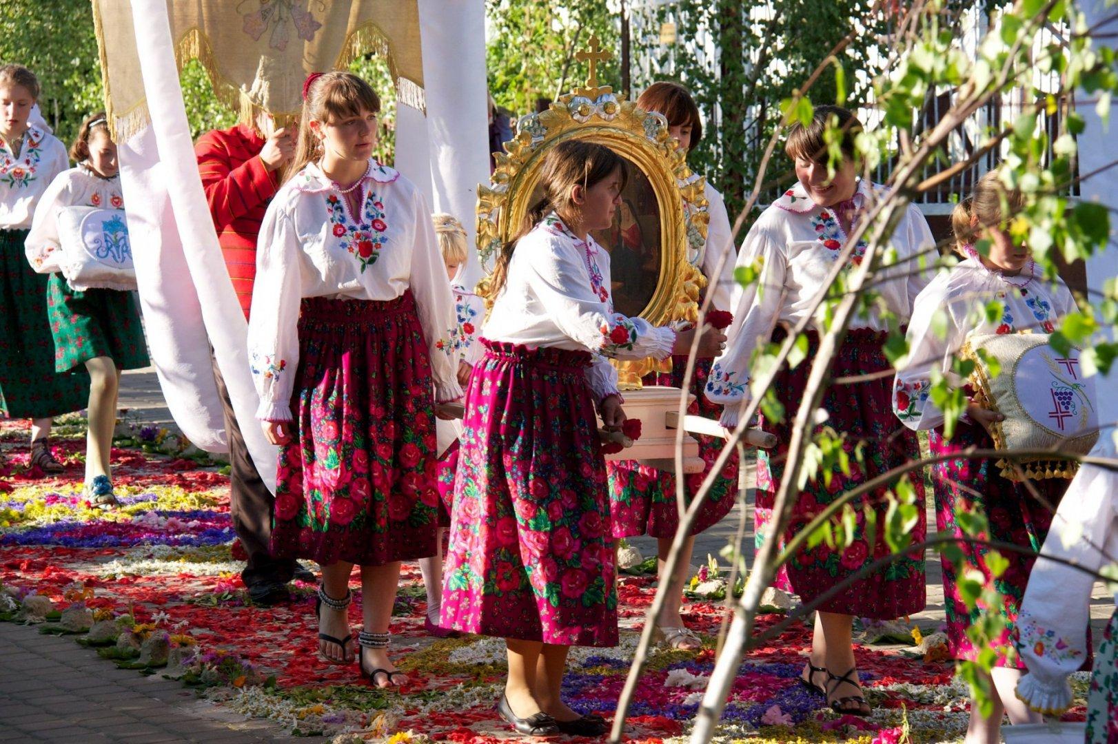Corpus Christi bank holiday in Poland